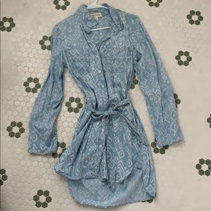"Anthropologie ""cloth & stone"" chambray dress"